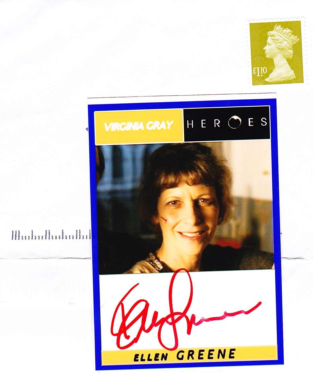 Ellen Greene fan mail