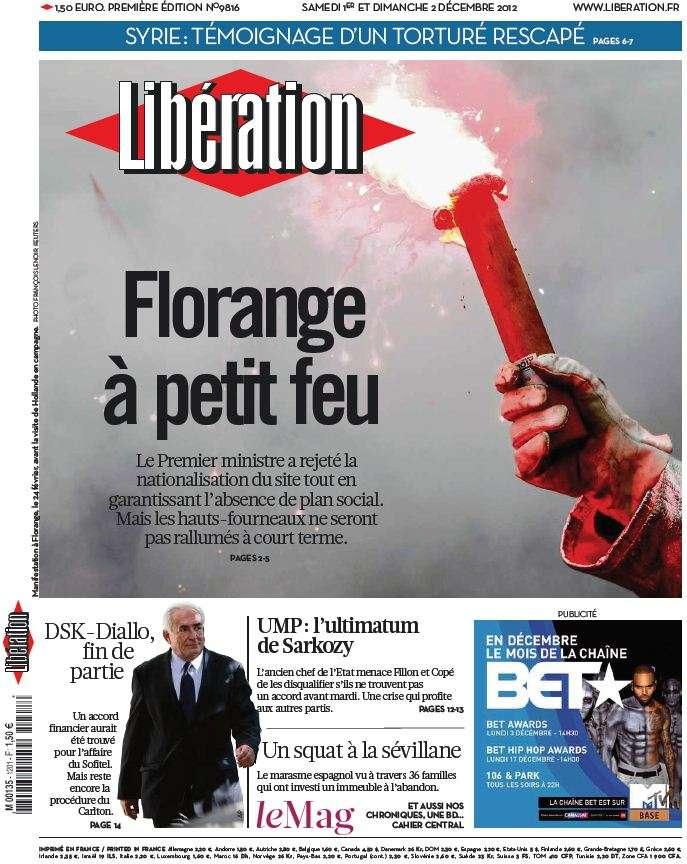 Libération du Samedi 1er et Dimanche 2 Décembre 2012