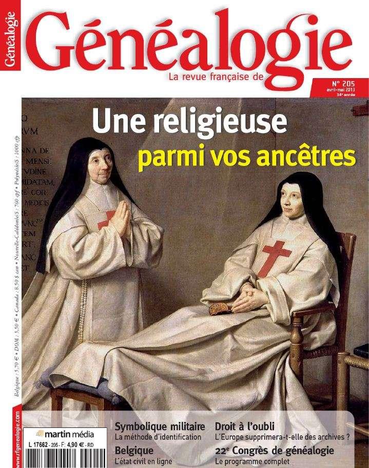 La Revue Française de Généalogie N°205 Avril Mai 2013